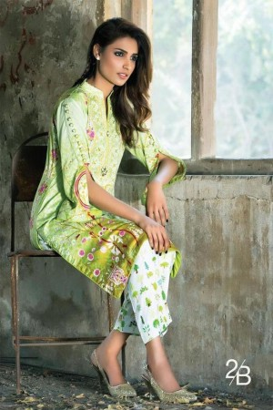 Tunic Winter Embroidered Two Piece Collection By AlZohaib-D2B