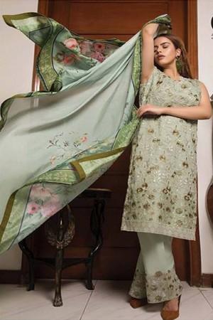 Zunairi Luxury Embroidered Chiffon Collection-D-07