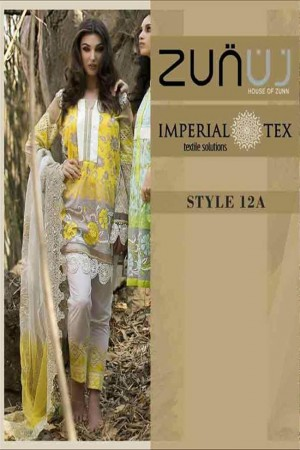 Zunuj Imperial Tex Lawn Collection-D-12A